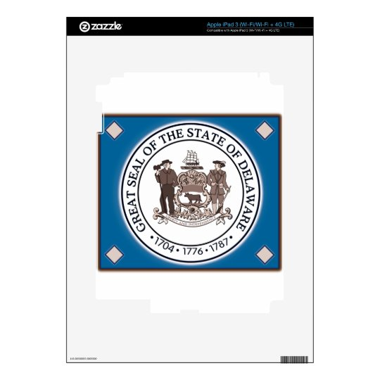 Delaware State Seal Decal For iPad 3