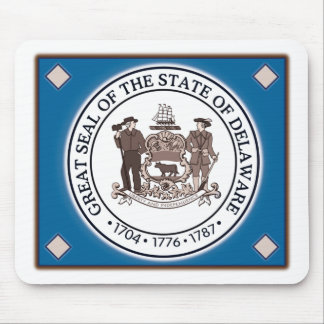 Delaware State Seal Mouse Pad