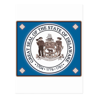 Delaware State Seal Postcard