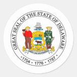 Delaware State Seal Round Sticker
