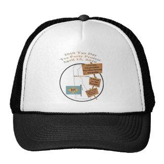 Delaware Tax Day Tea Party Protest Baseball Cap Trucker Hats