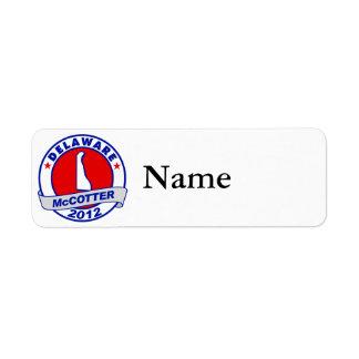 Delaware Thad McCotter Label
