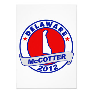 Delaware Thad McCotter Personalized Invitations