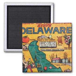 Delaware the Diamond State 2 Inch Square Magnet