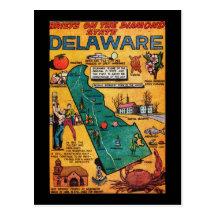 Delaware the Diamond State Post Card