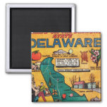 Delaware the Diamond State Refrigerator Magnet