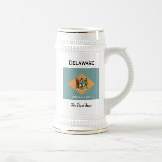 Delaware The First State Beer Stein 18 Oz Beer Stein