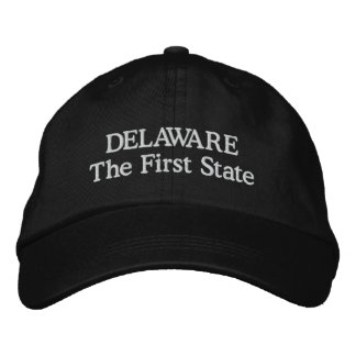 Delaware the first state embroidered baseball cap