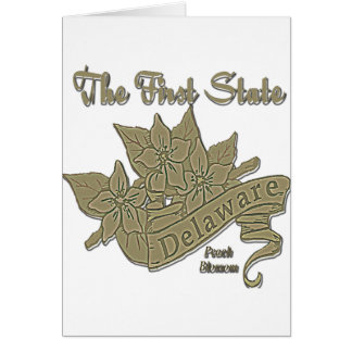 Delaware The First State Peach Blossom Greeting Cards