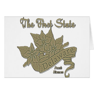 Delaware The First State Peach Blossom Greeting Card