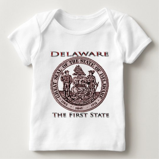 Delaware The First State Seal Baby T-Shirt