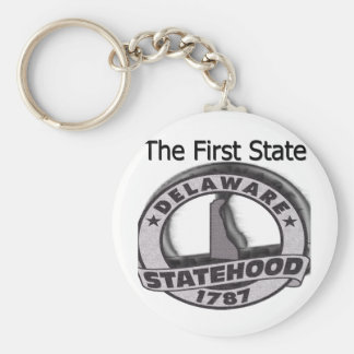 Delaware The First State Statehood Keychain