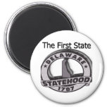 Delaware The First State Statehood Refrigerator Magnets