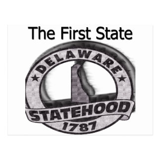 Delaware The First State Statehood Postcard