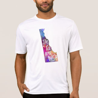 Delaware U.S. State in watercolor text cut out T-Shirt