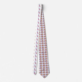 Delaware U.S. State in watercolor text cut out Tie