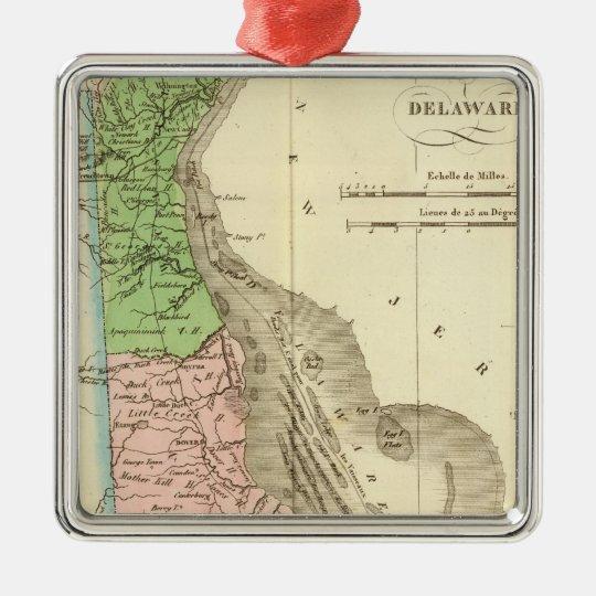 Delaware US Metal Ornament