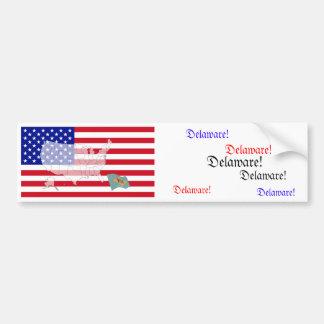 Delaware, USA Car Bumper Sticker