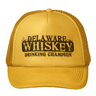 Delaware Whiskey Drinking Champion Mesh Hat