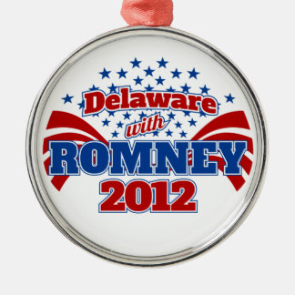 Delaware with Romney 2012 Metal Ornament