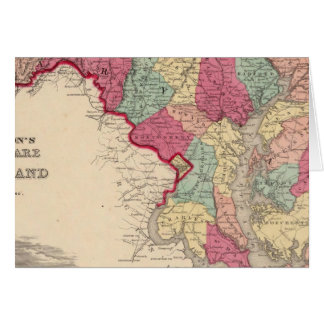 Delaware y Maryland Tarjeta De Felicitación