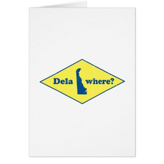 Delawhere? Vintage Delaware Card