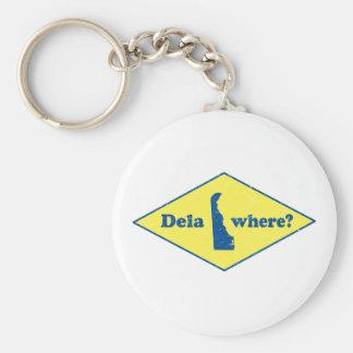 Delawhere? Vintage Delaware Basic Round Button Keychain