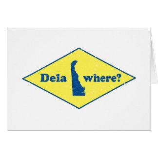 ¿Delawhere? Vintage Delaware Tarjeta De Felicitación