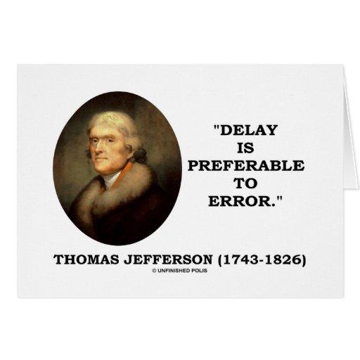 Delay Is Preferable To Error Card