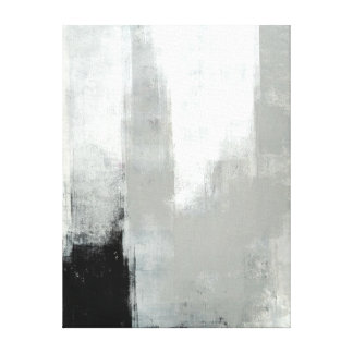 'Delayed' Grey Abstract Art Canvas Print