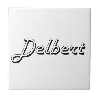Delbert Classic Retro Name Design Small Square Tile