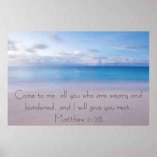 Déle el poster del 11:28 de Matthew del verso de l Póster