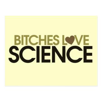 Déle la ciencia del amor de la ciencia tarjeta postal