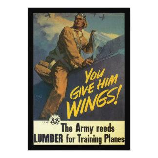 """Déle la guerra mundial de las alas 2 invitación 5"""" x 7"""""""