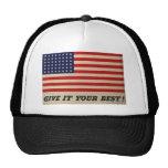 Déle su mejor bandera de los E.E.U.U. Gorras