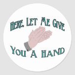 Déle una mano etiquetas redondas