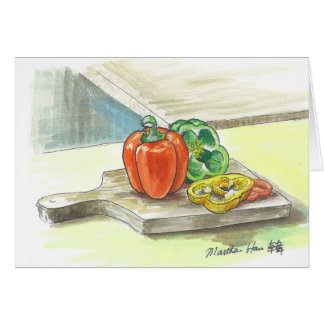 Delectable bellpeppers card