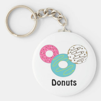 Delectable Donuts Basic Round Button Keychain