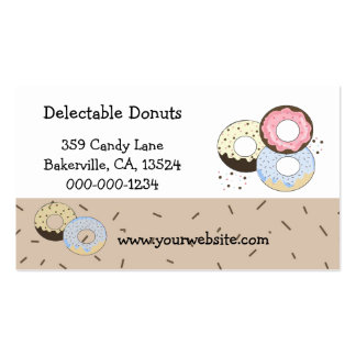 Delectable Donuts Business Card