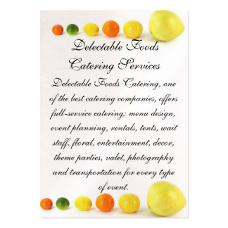 Delectable Foods Large Business Card