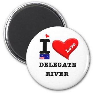 DELEGATE RIVER - I Love Magnet