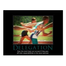 Delegation Demotivational Postcard