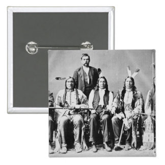 Delegation of Sioux chiefs, led by Red Cloud (1822 2 Inch Square Button
