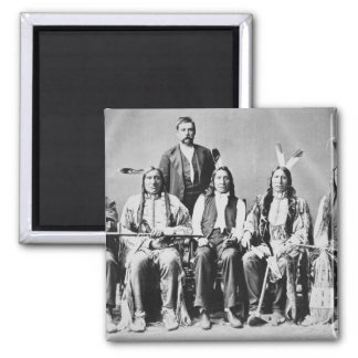 Delegation of Sioux chiefs, led by Red Cloud (1822 2 Inch Square Magnet