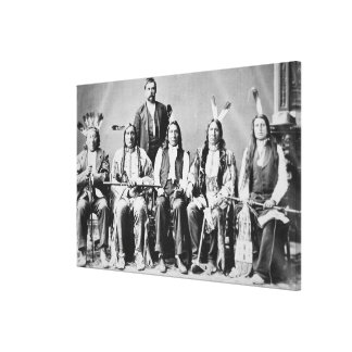 Delegation of Sioux chiefs, led by Red Cloud (1822 Canvas Print