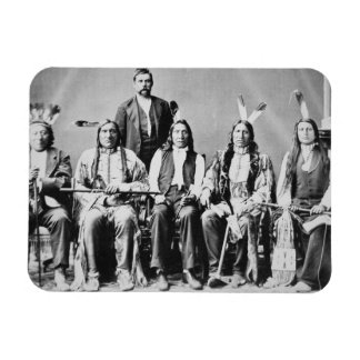 Delegation of Sioux chiefs, led by Red Cloud (1822 Rectangular Photo Magnet