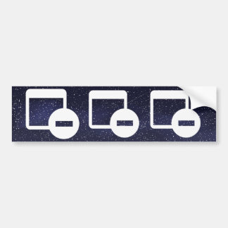 Delete Alls Symbol Car Bumper Sticker