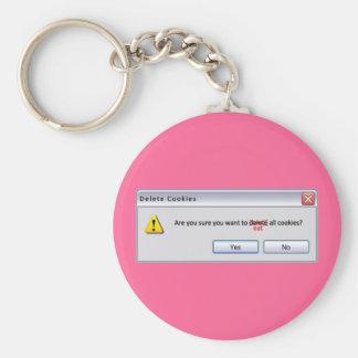 Delete Cookies Basic Round Button Keychain