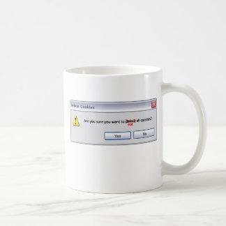 Delete Cookies Coffee Mug