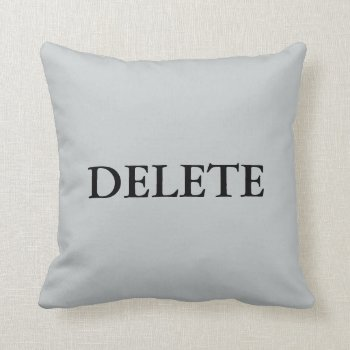 Delete Custom Pillow Image by creativeconceptss at Zazzle